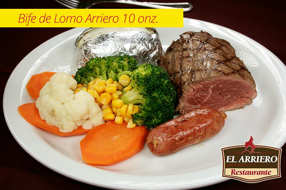 Bife de Lomo Arriero 10 Onz El Salvador