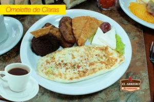 Omelette de Claras - Desayunos El Salvador