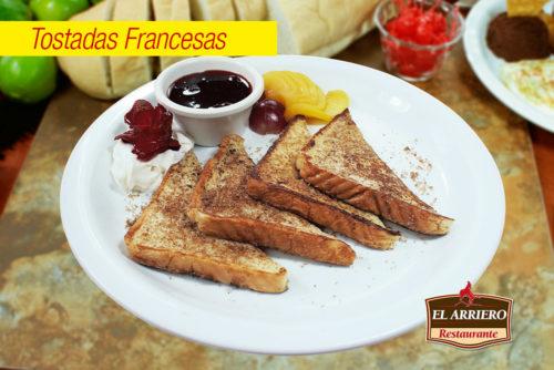 Tostadas Francesas - Desayunos El Salvador