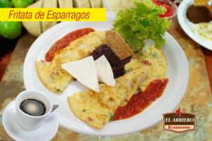 Fritata de Esparragos - Desayunos El Salvador
