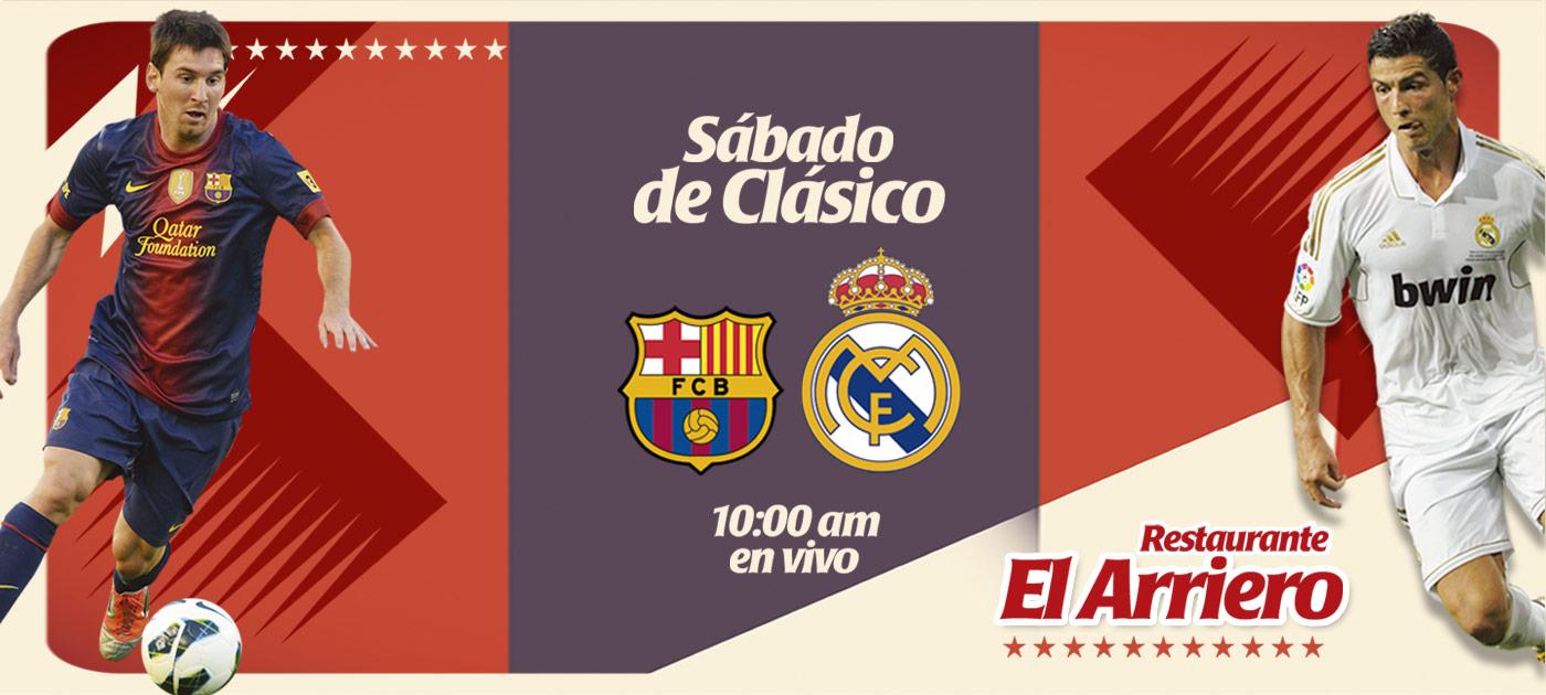 Este sábado 25 de Octubre disfruta el clásico Real Madrid Barcelona en Restaurante El Arriero