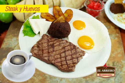 Steak y Huevos - Exquisitos desayunos el salvador