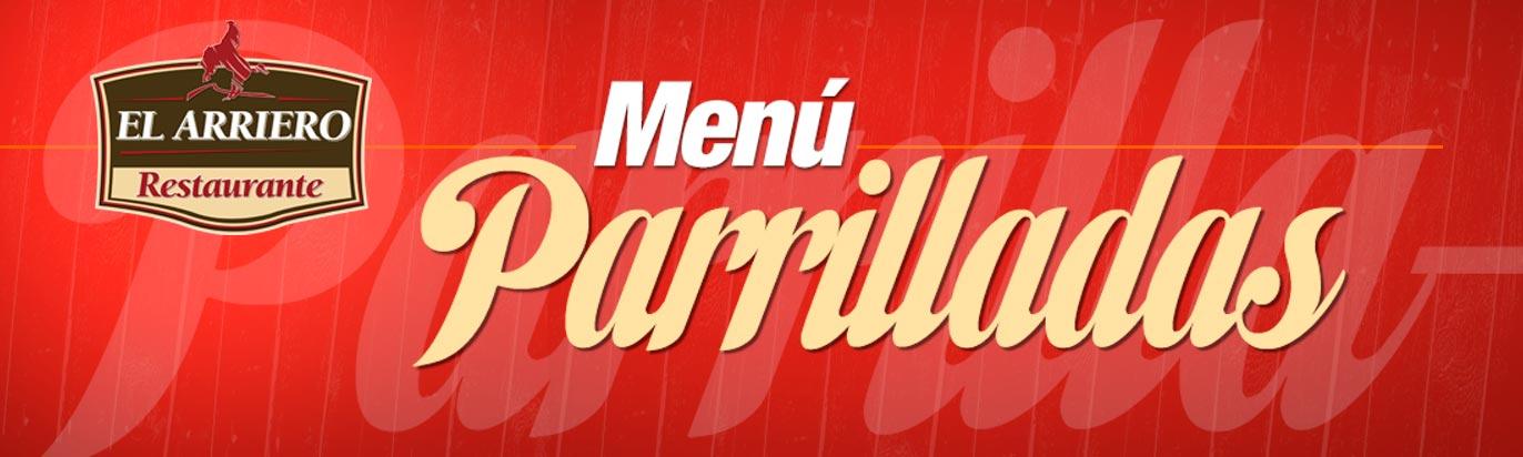 Menú Parrilladas